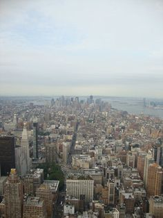 Photo from the Empire State Building on my first trip to NYC!  July 2011