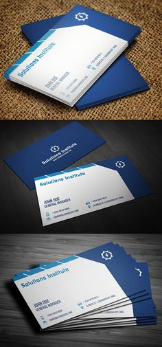 Corporate Blue Business Card #businesscards #businesscardsdesign #creative #corporate #inspiring #premium #printready