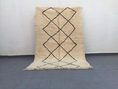 Items similar to beni ourain authentic vintage wool handmade moroccan berber on Etsy