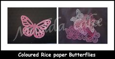 Edible Image Rice paper butterflies.  Perfect for decorating a wedding cakes and even cupcakes