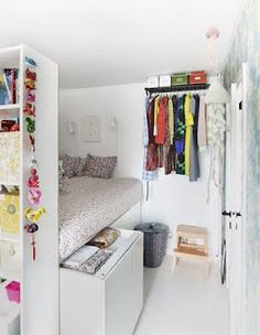 I love this! It's so simple, but uses white to open out a small space, leaving it clean and bright! I waant this