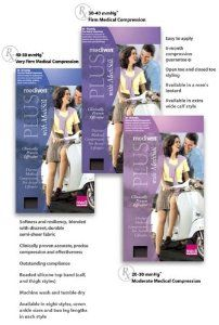 Mediven Plus, Knee-High With Top Band, 20-30mmHg, Open Toe, Compression Stocking, Beige, VI by Mediven. $59.96. Machine wash and tumble dry. Clinically proven accurate, precise compression and effectiveness. Easy to apply. Softness and resiliency, blended with discreet, durable semi-sheer fabric. offers patients who wish to conceal their varicosities, blemishes or scarring a discreet solution. Size VI, Beige