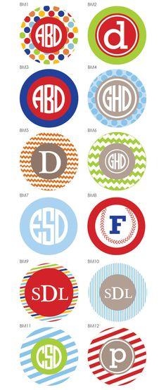 Boy monogram designs for tshirts