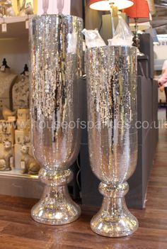 Silver Mosaic Large Vase - House of Sparkles