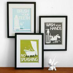 Bathroom Artwork funny bathroom art sign, bathroom wall decor, bathroom quote