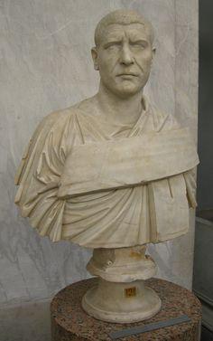 Busto di Filippo l'Arabo,III secolo d.C,marmo, Castel Porziano,Musei Vaticani.