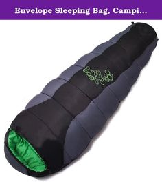 Envelope Sleeping Bag, Camping Outdoor Hiking Travel Mummy Sleeping Bags Waterproof 100% Cotton by Wnnideo (black). Product specifications: 220 cm * 80 cm * 50 cm Weight: 1150G Fabric: 190T polyester pongee Spring and spinning Filling: 250g/ square meters four hole cotton Sleeping bag structure: cap pocket, zipper protection belt, collar Wai (a left and right can be stitching) Packaging: 210D Oxford cloth compression bag Scale: -5 C 0 +5 OC.