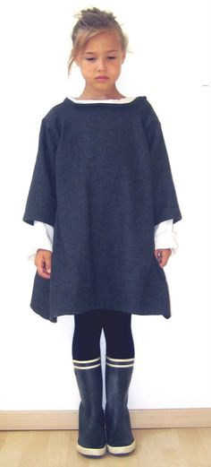 robe poncho fille