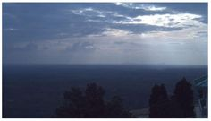 6:15pm - Live grab from the camera on the summit of Stone Mountain, GA looking west towards Atlanta.