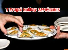 DONE (18) - 7 frugal holiday appetizers  Making the spinach dip veggie cups - they were a great way to cut calories by substituting cucumbers for bread :)