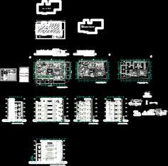 Engineering et Architecture Condominium Architecture, Architecture Plan, Bloc Autocad, Cad Computer, Church Design, Cad Drawing, Civil Engineering, Planer, House Plans