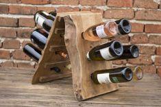 Wine rack Live edge wine rack Wooden wine shelf Natural wood Home decor Handcrafted gift Wine bottle holder Wood wine rack Live Edge Furniture, Furniture Plans, Furniture Decor, Wine Glass Rack, Wood Wine Racks, Wine Shelves, Wine Storage, Storage Ideas, Glass Shelves