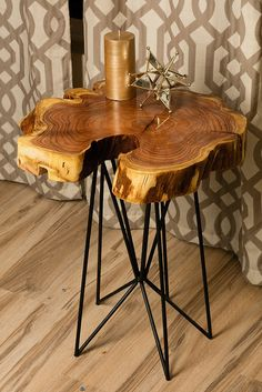 Rustic chic reclaimed urban wood live edge tables made in Phoenix including river tables, modern coffee tables, accent tables, C-Tables, Sofa/Console Tables.