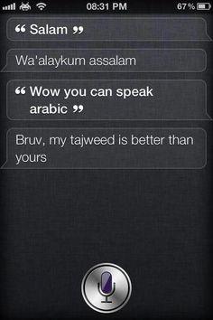Siri's Arab!!!>>> Siri just got awesome