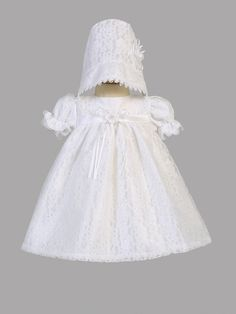 Girls Christening All Over Lace Tulle Dress