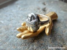 Vintage Egyptian Revival Sterling Silver Scarab Ring by tippleandsnack