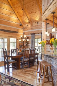 StoneMill Log & Timber Homes Picture Gallery - Royer Project