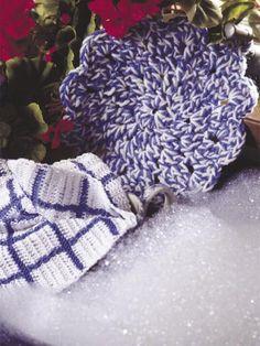 Crochet - For the Home - Kitchen Decor - Blue Willow Kitchen Set - #FC00404