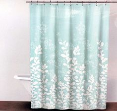 DKNY Fabric Shower Curtain Teal And White    Enchanted Forest DKNY Http://