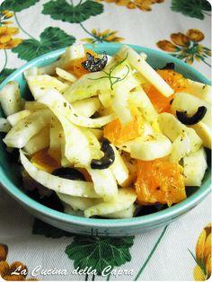 insalata finocchio arance