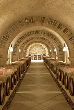 Photo Credit: Patricia Lyons. the granite RdV wine cellar, carved out of a hillside