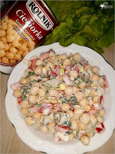 Kolorowa sałatka z cieciorką (4) Bean Recipes, Salad Recipes, Breakfast Lunch Dinner, Polish Recipes, Slow Food, Party Snacks, Finger Foods, Pasta Salad, Potato Salad