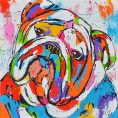 Buldog - www. Bulldog Pics, Bulldog Mascot, Bulldog Images, Dog Pop Art, Dog Art, Mini English Bulldogs, Bully Dog, British Bulldog, Pallet Art