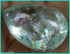 rainbow fire aquamarine : gems-india