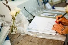 Signing the guest book // Weddings at The Crosby in Rancho Santa Fe