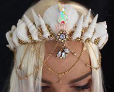Thin white mermaid crown
