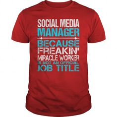 Awesome Tee For Social Media Manager T-Shirts, Hoodies (22.99$ ==► Order Here!)
