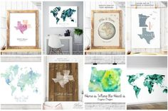 10 Gorgeous Wedding Map Guest Book Alternatives!