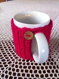 Taza mug de ganchillo crochet. Ana Corberán