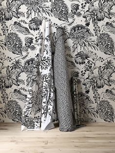 Lorca collections at Porter's Fabric Rug, Fabric Wallpaper, Cool Wallpaper, Wallpaper Ideas, Gray Interior, Black N White, Wall Decor, House Design, Inspiration
