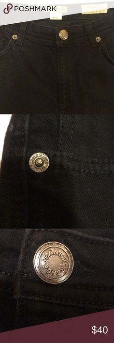 Versace Jeans Black Slim Fit Denim Versace Jeans Black Slim Fit Denim pants   Stretch , zip up , Versace silver button close , Versace Jeans logo stitch in back pocket  midnight black beautiful and in excellent condition 2 slim flat front pockets with lipstick pocket , 2 flat back pockets inseam is about a 32. Says it's a 32 but fits like a 30 Versace Jeans Collection Jeans Straight Leg