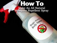 How To Make An All Natural Mosquito Repellent Spray
