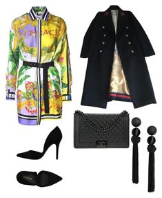 """Untitled #168"" by denisapurple on Polyvore featuring Versace, PrimaDonna, Gucci and Chanel"