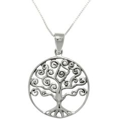 Carolina Glamour Collection Sterling Silver Celtic Love Tree Of Life... ($24) ❤ liked on Polyvore featuring jewelry, necklaces, silver, sterling silver necklace pendant, long pendant necklaces, sterling silver pendant necklace, pendant necklace and chain necklace