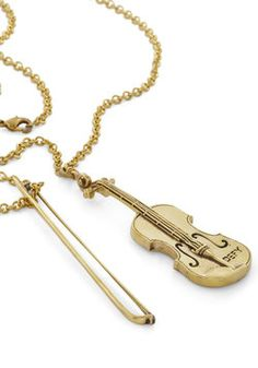 World's Tiniest Violin Necklace, #ModCloth. Let me have ittttt please