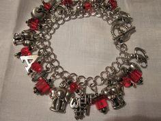 Alabama Crimson Tide Handmade Charm Bracelet by Fredona on Etsy, $29.99