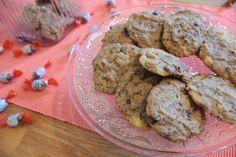 Das sind die fertigen Kekse aus unserem Schoko Cookies Rezept - sie sind super zum sofort naschen. Erstrecht wenn sie noch etwas warm sind! Aber bevor sie in das Keksglas oder die Keksdose wandern, gut abkühlen lassen!