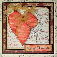 Ink on My Fingers: Sparkling Baubles Card by Hels Sheridan using Darkroom Door Brushed Christmas Vol 2 Rubber Stamps.