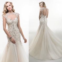 Sweetheart  Sweep Train Appliques Beaded Wedding Dress And Bridal Dresses Mermaid Elegant Sexy Backless Wedding Dress 2014-in Wedding Dresses from Weddings & Events on Aliexpress.com | Alibaba Group