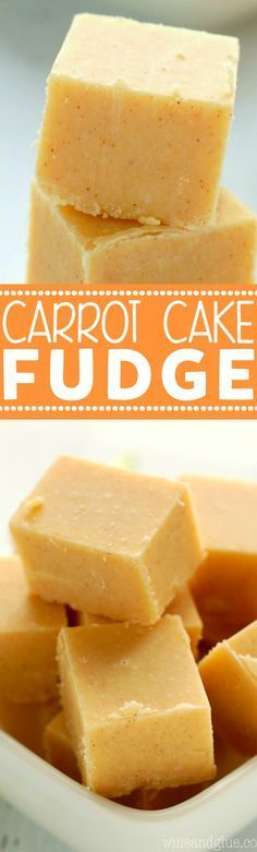 This Carrot Cake Fudge is SO easy with a SECRET INGREDIENT to make it taste juts like carrot cake!: