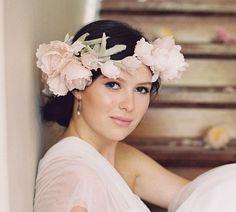 English rose blush bridal silk flower от EricaElizabethDesign