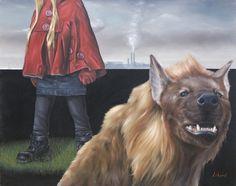 """David Lihard """"La petite capeline rouge"""", huile sur toile, 73 x 92 cm, 2009"""