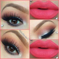 sexyness=lipstick and piercings xoxo Pretty Makeup, Love Makeup, Makeup Tips, Makeup Looks, Makeup Ideas, Coral Makeup, Gorgeous Makeup, Makeup Trends, All Things Beauty
