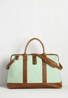Revivals and Departures Weekend Bag in Mint  89fa3e2bf6011