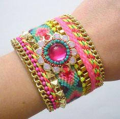 Love the Ibiza Style! #ibiza #style #armband http://www.hollandstyle.nl/winkel/ibiza-bracelet-roze/
