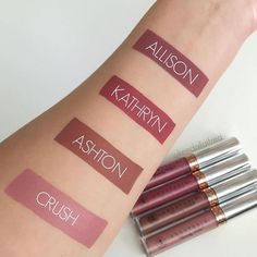 High end beauty on a budget - Tj maxx haul - Anastasia Beverly Hills Liquid Lipstick Swatches! Lipstick Swatches, Makeup Swatches, Liquid Lipstick, Matte Lipsticks, Colors For Skin Tone, Lip Colors, Colours, Beauty Dupes, Beauty Hacks